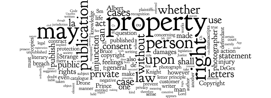 Word cloud for privacy rights notes